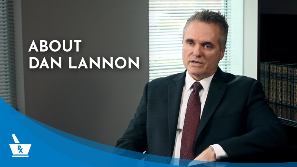 """Dan Lannon from PharmacyCBS speaking with the caption """"ABOUT DAN LANNON"""""""