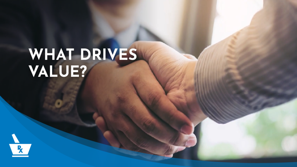 """two hands giving each other a handshake with the caption """"WHAT DRIVES VALUE?"""""""